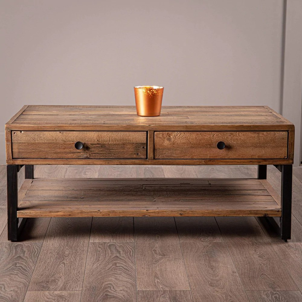 lincoln rustic coffee table