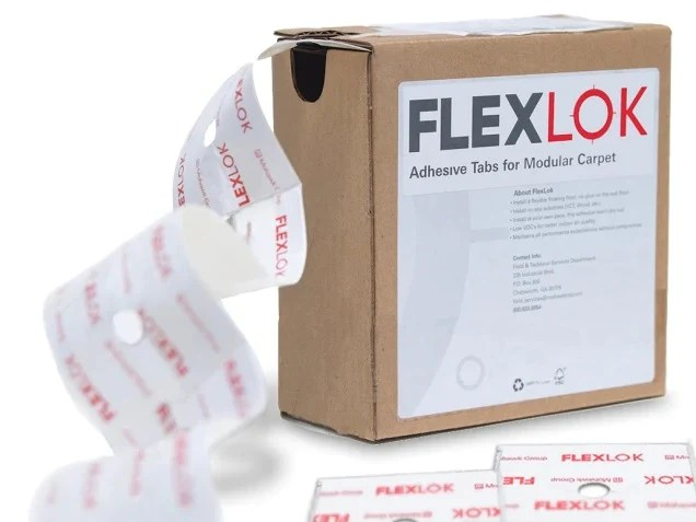 mohawk flxtb flexlok tabs adhesive install tabs for carpet tile or modular carpet