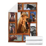 Funny Horse Face Fleece Blanket Gift For Horse Lover Nh19 Perfect Ivy