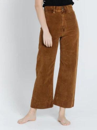 Sueded Belle Pant - Mustang Brown