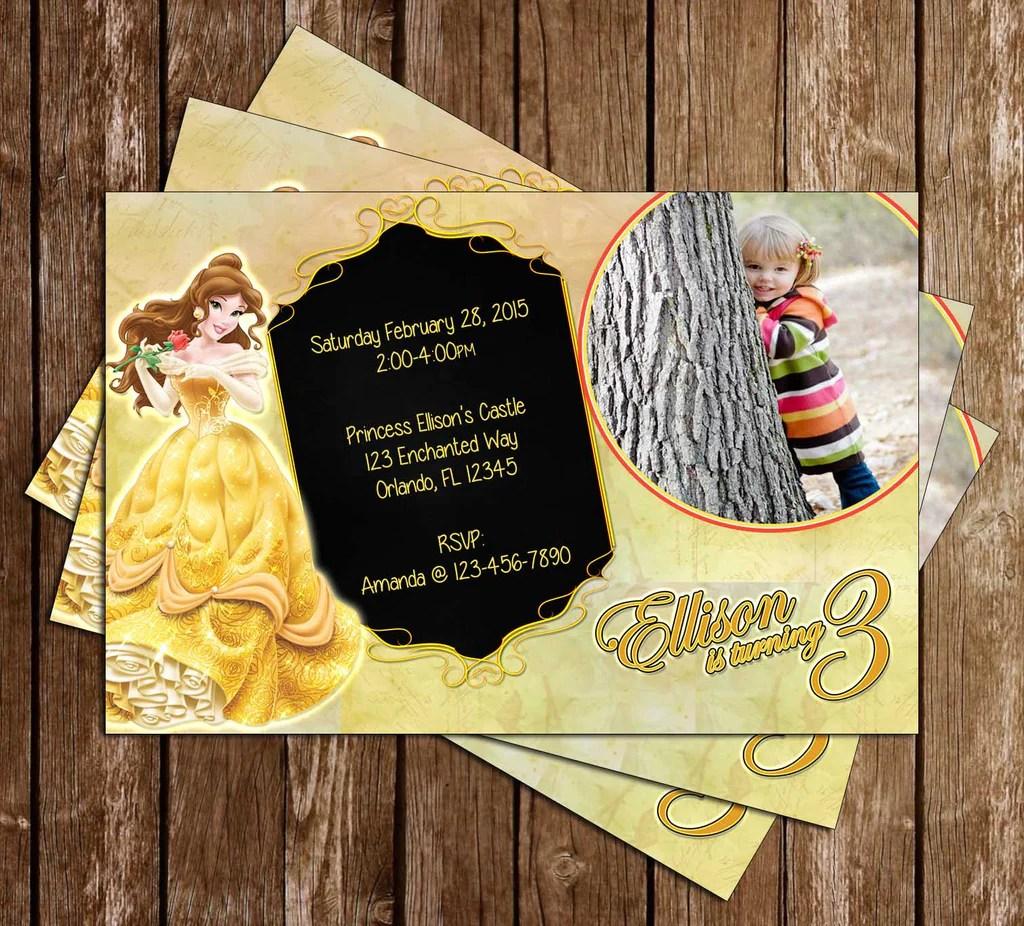Novel Concept Designs Disney Beauty And The Beast Princess Belle Birthday Invitation