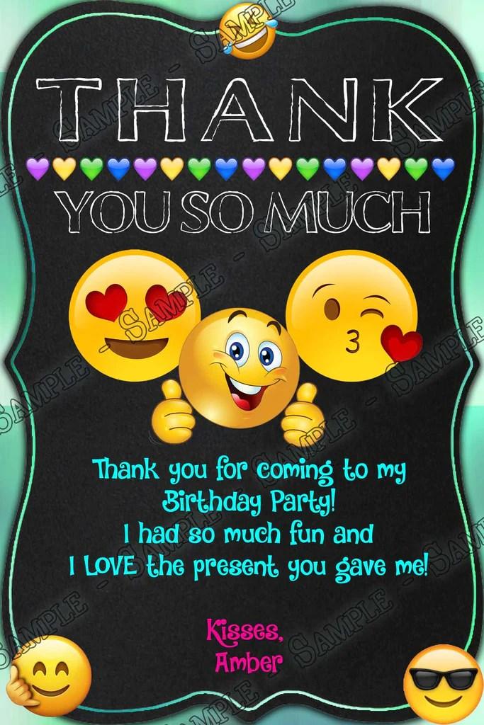 emoji chalk birthday party invitation