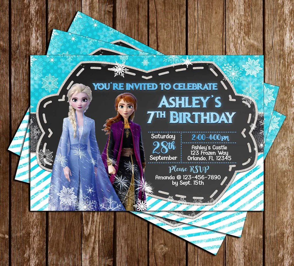 disney s frozen 2 birthday party invitation
