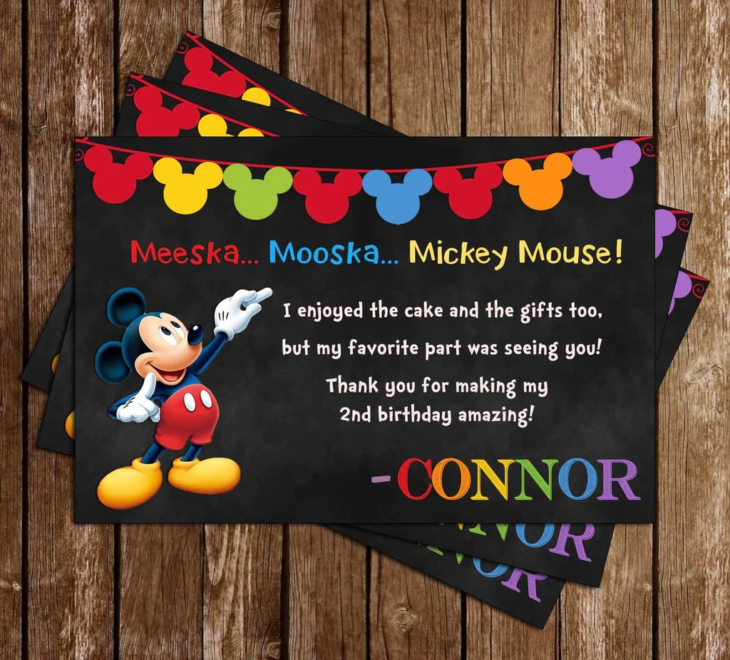 Novel Concept Designs Mickey Mouse Clubhouse Chalkboard Birthday Party Invitation