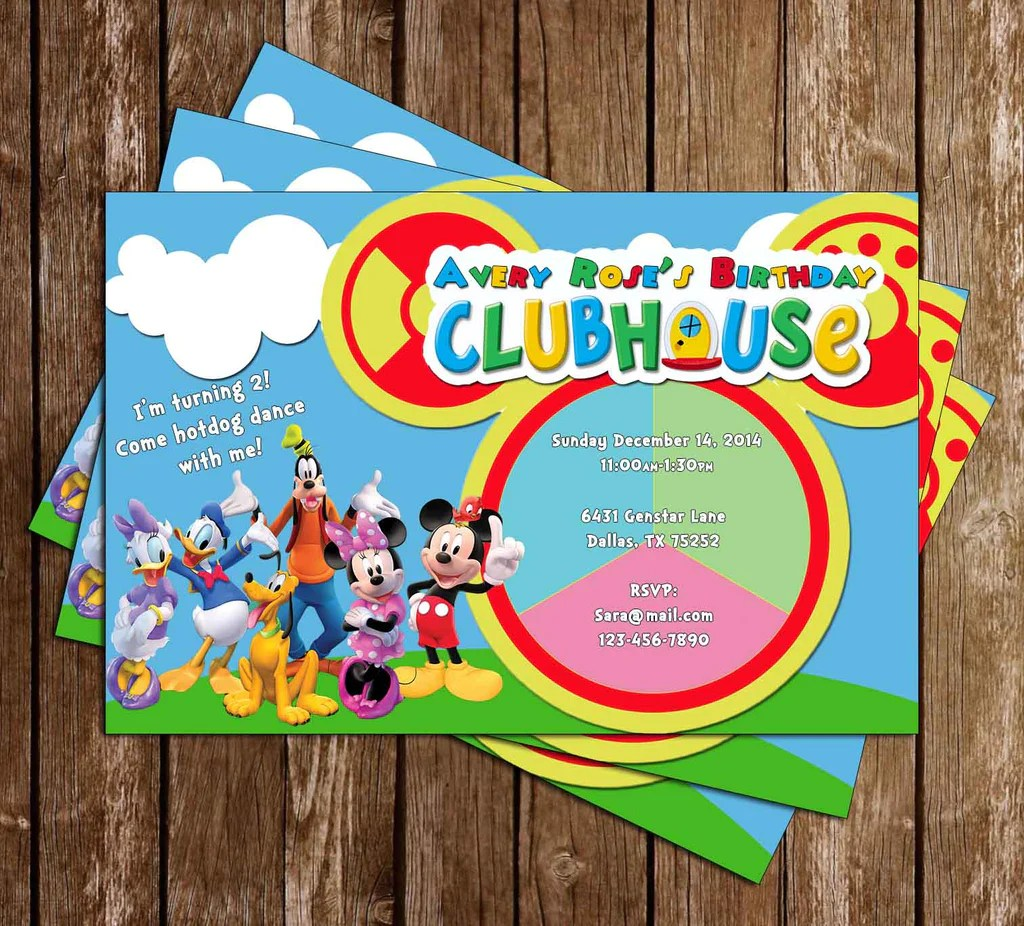 Novel Concept Designs Disney Mickey Mouse Clubhouse Toodles Birthday Party Invitation