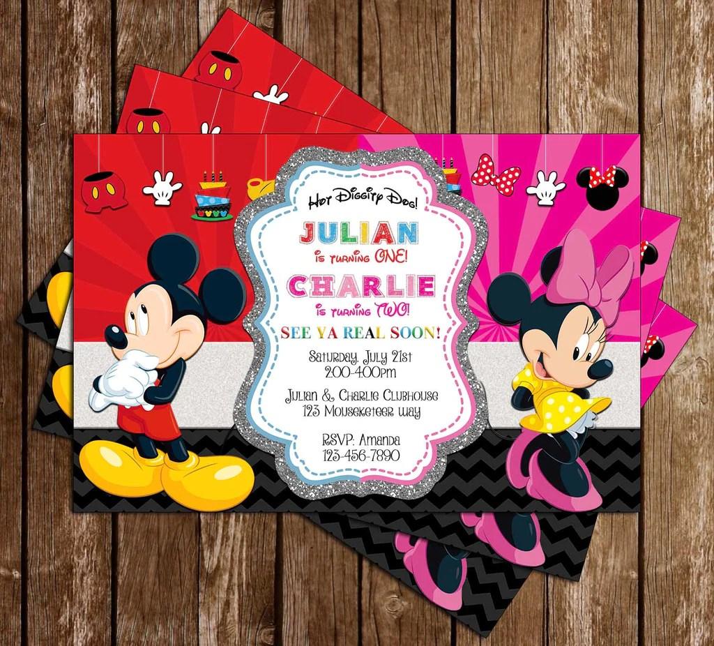 Mickey Minnie Birthday Party
