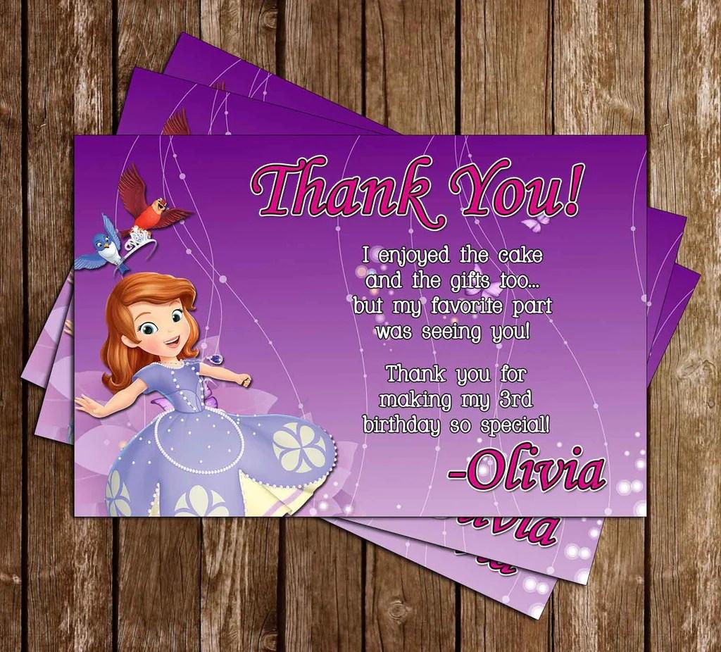 princess sofia the first purple birthday invitation