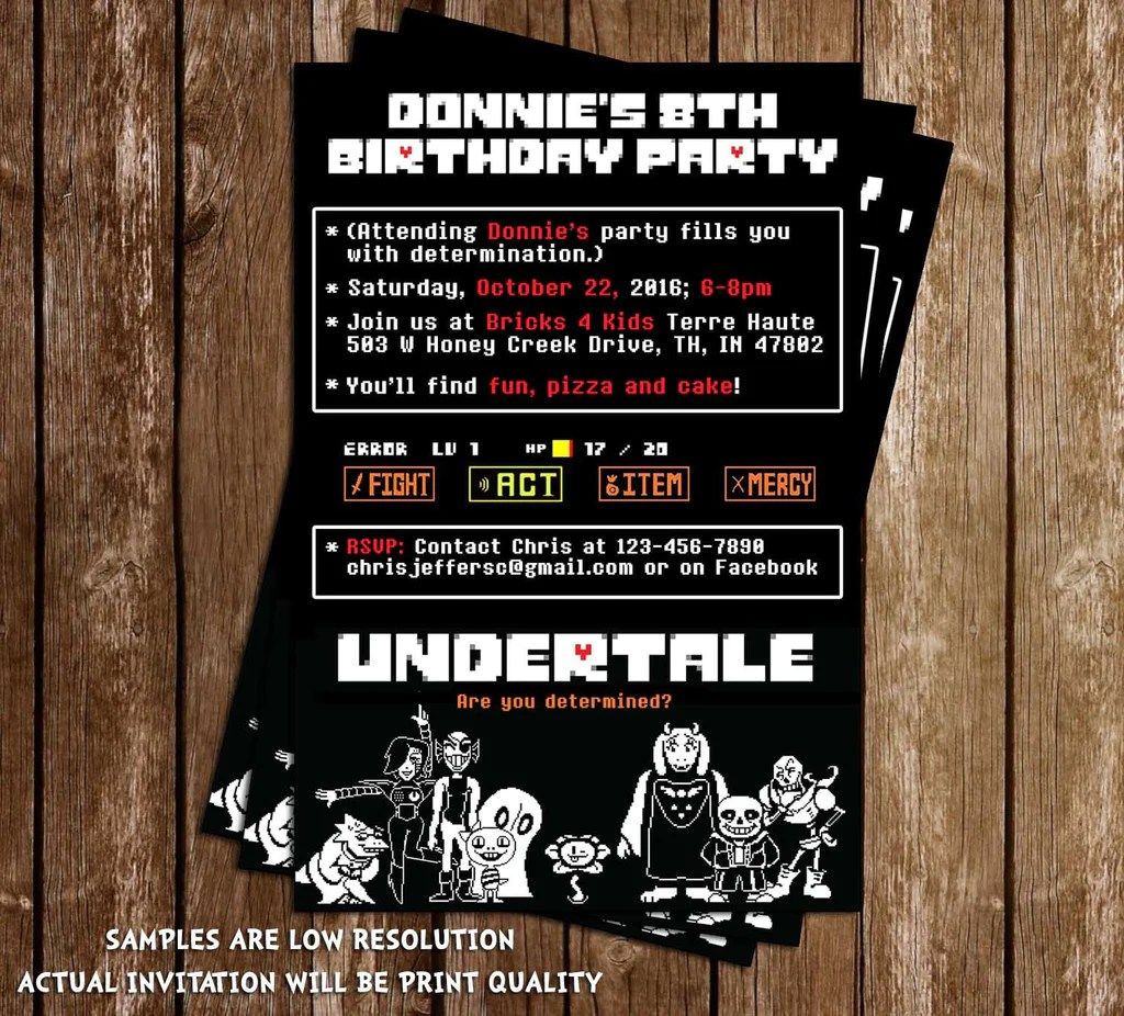 Invitation Card Birthday Party