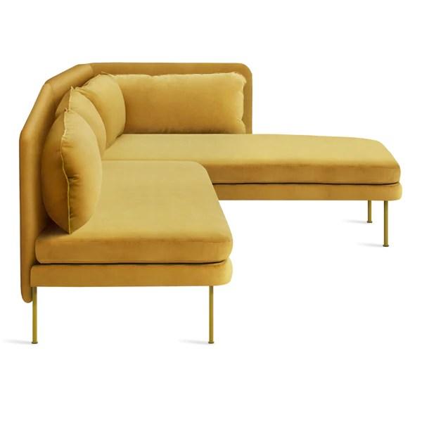 bloke armless velvet sofa with right arm chaise