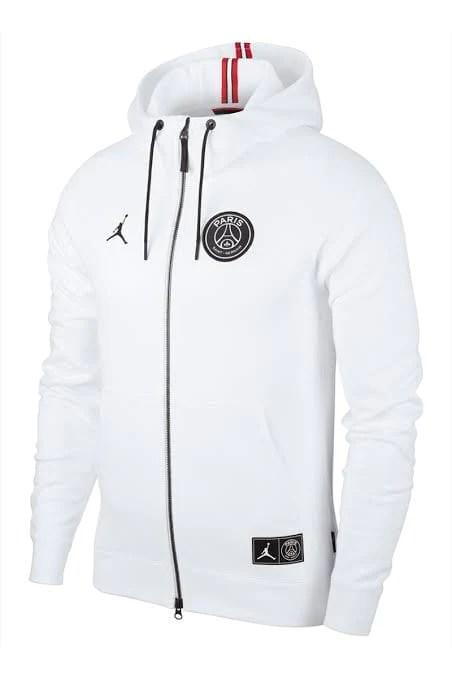 psg x jordan jacket white