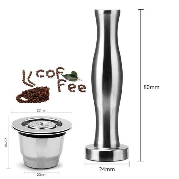 Ekocaps™ - Capsule de café Nespresso® réutilisable en acier inoxydable