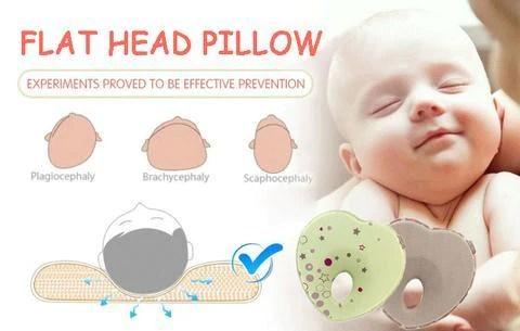 anti flat head infant pillow