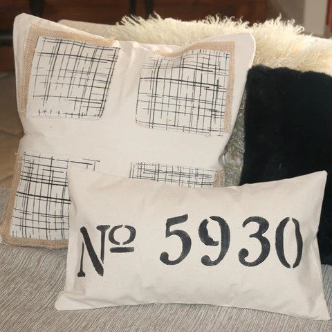 burlap pillow rectangle available in 5 sizes