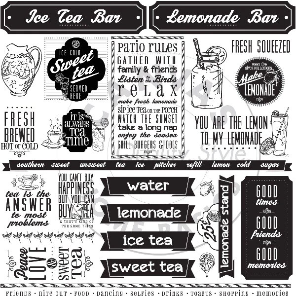 Mixology Lemonade Amp Sweet Ice Tea Sayings Paper Canvas