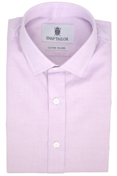 Oxford Solid Dress Shirt in Purple   Snap Tailor Photo of the Oxford Solid Dress Shirt in Purple