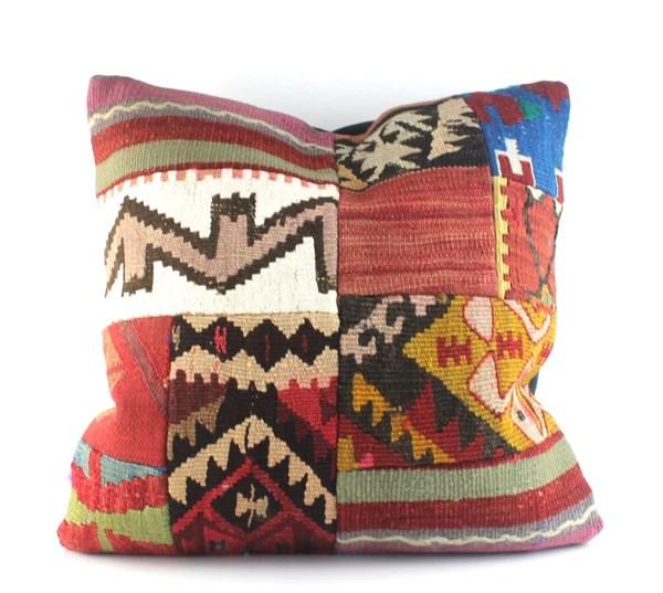 patchwork kilim pillows 20x20
