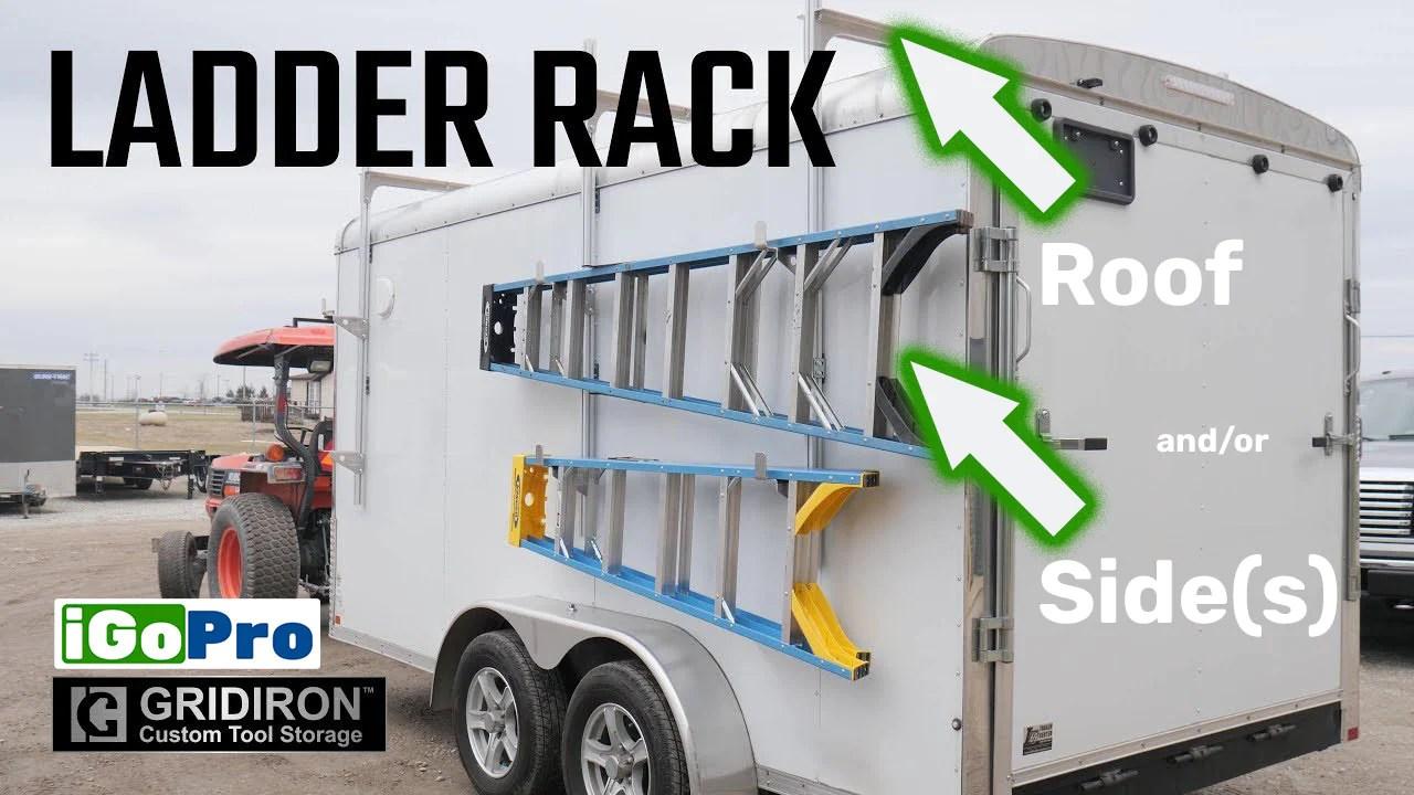 enclosed trailer ladder racks side
