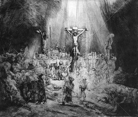 Crucifixion Etching