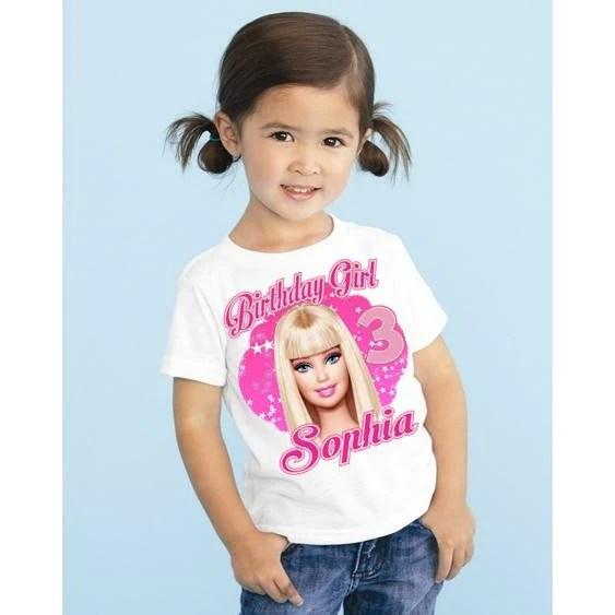 Barbie Girls Personalized Birthday T Shirt Girly Girl Tutus
