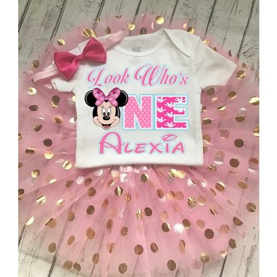 Minnie Mouse 1st And 2nd Custom Birthday Outfit Tutu Girly Girl Tutus