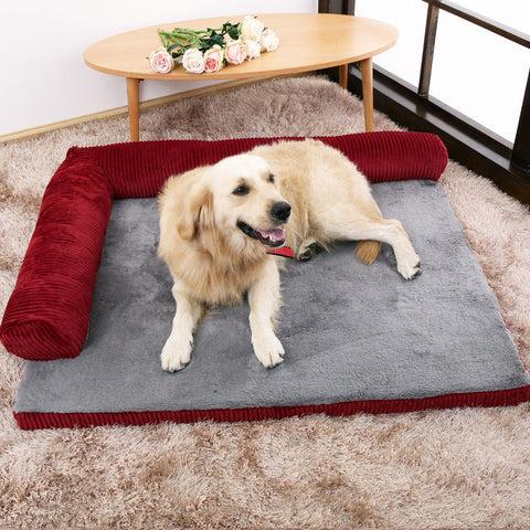 tapis pour chien dehoussable avec coussin