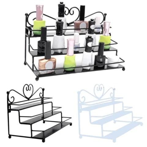 Premium Nail Polish Organizer Display Shelf Rack
