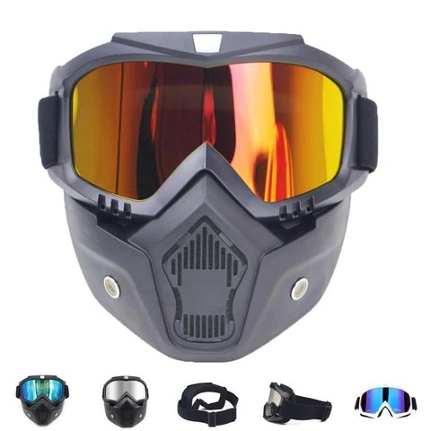 Luxury Snow Ski Goggles With Mouth Filter