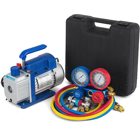 Manifold Gauge Set Air Vacuum Pump with Oil