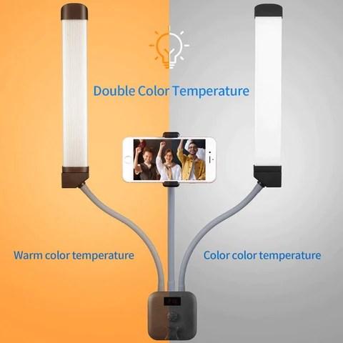 Photo Studio Double Arm Selfie Ring Light with 200cm Tripod