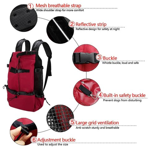 Pet Dog Backpack Travel Carrier Bag