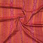 Red Handwoven Sambalpuri Ikkat Cotton Fabric