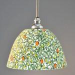 Landlines Pate De Verre Glass Pendant Light Orange Tree It S A Light Funky Unusual Lighting