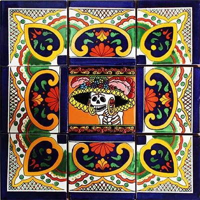 pola mexican tile backsplash mural