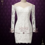 Convertible Lace Wedding Dress With Detachable Skirt Shelby