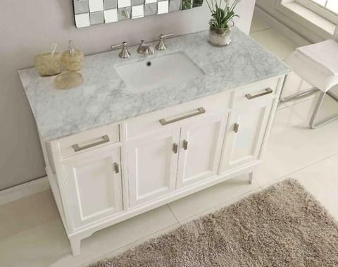 granite or marble top bathroom vanity