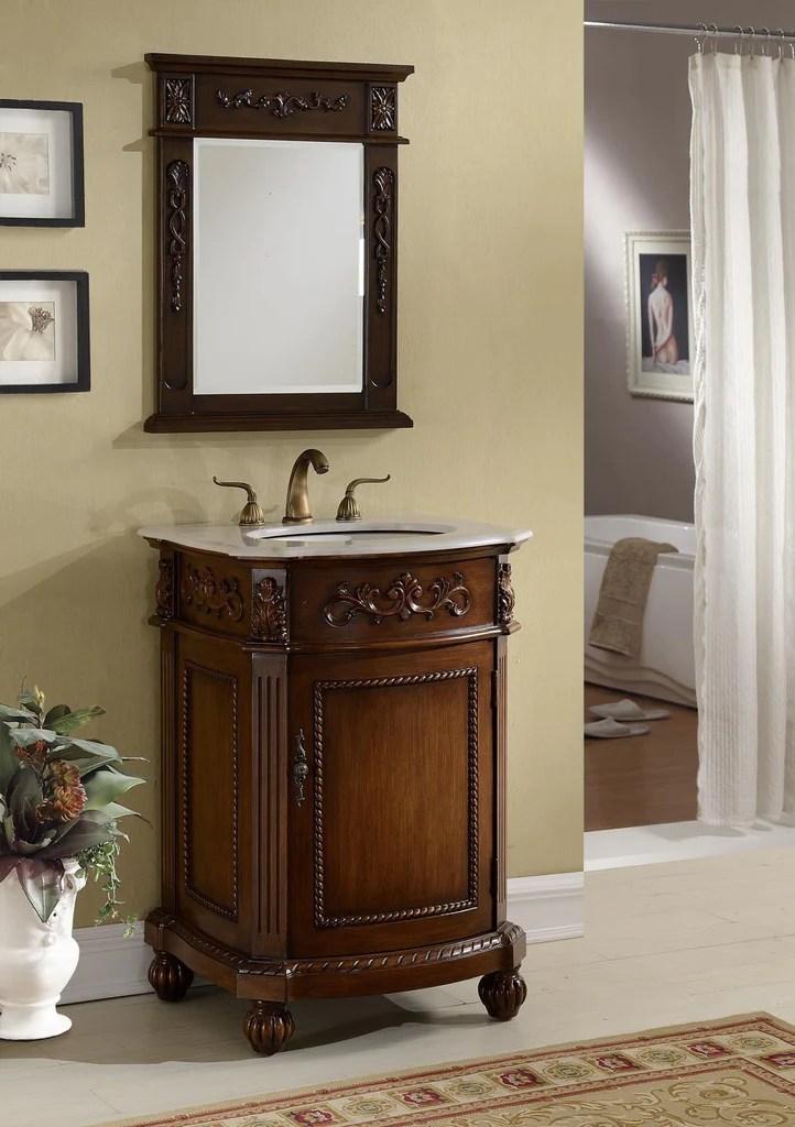 24 Powder Room Bathrrom Sink Vanity Amp Mirror Set Camelot