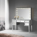 Impressions Vanity Slaystation Kimberly Mirrored Vanity Table Mirrorsgalore