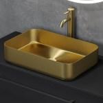 Fritstaende Handvask Ljordal Borstet Messing Hometomato