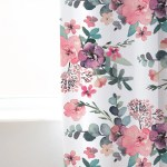 Pink Floral Curtain Girls Room Decor Wild Pink Brave Wild Ones