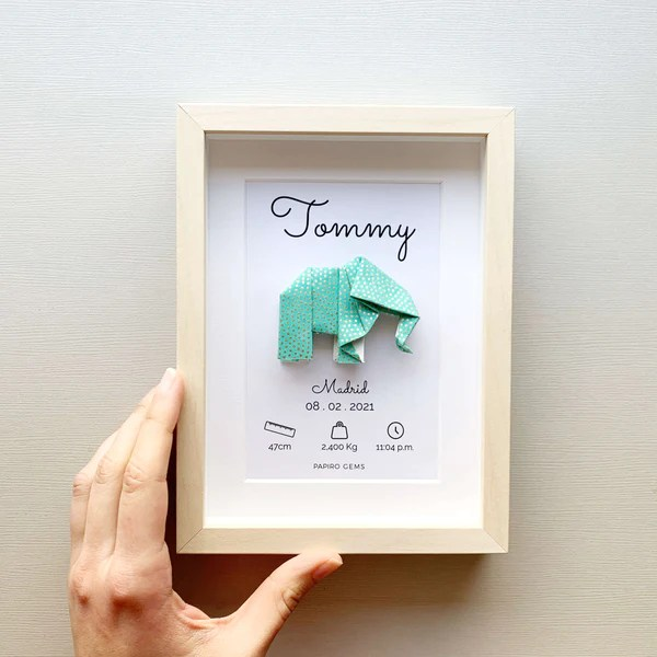 personalized elephant baby poster