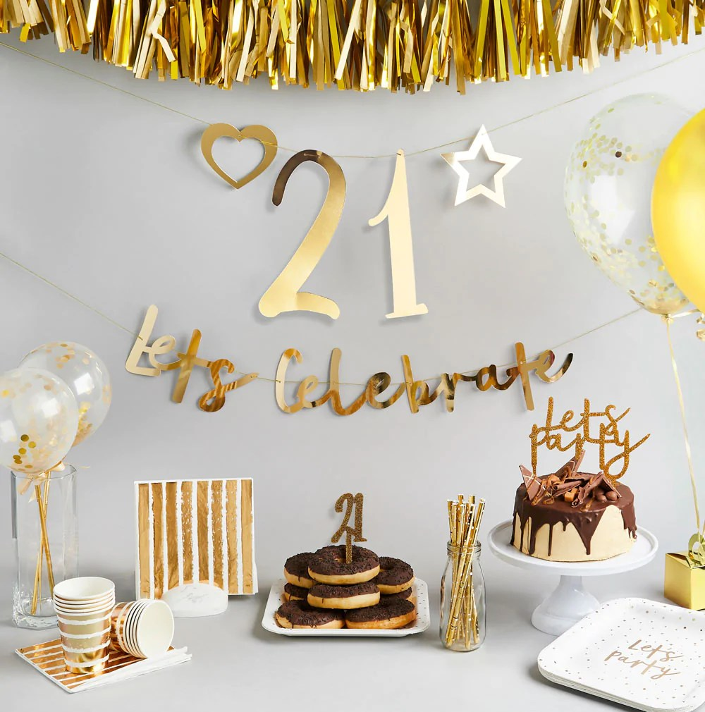 21st Birthday Decorations Supplies Party Pieces