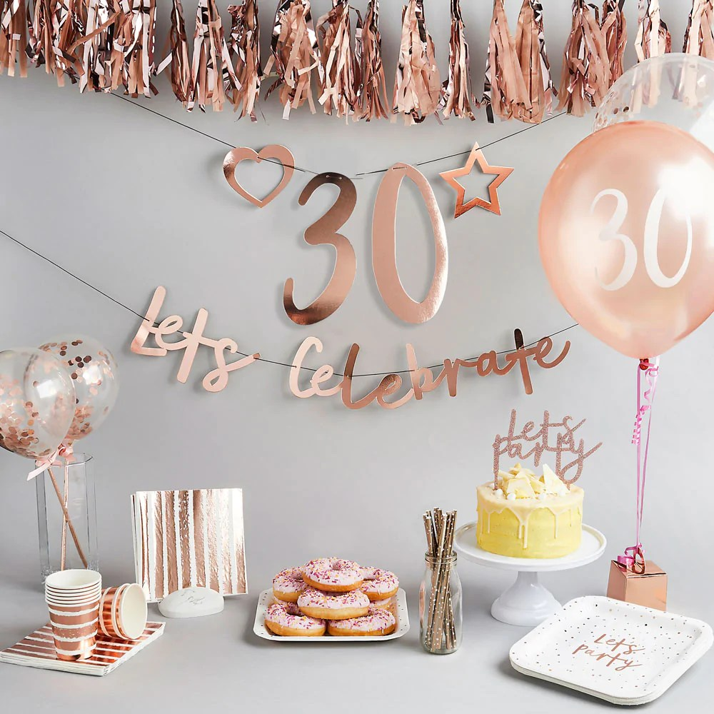 30th Birthday Decorations 30th Birthday Party Ideas Party Pieces