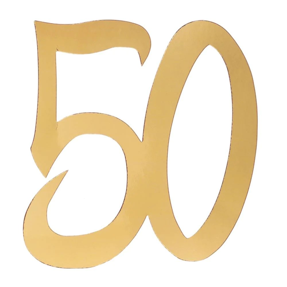 50th Birthday Oversized Confetti X4 50th Birthday Ideas Party Accessories Party Pieces