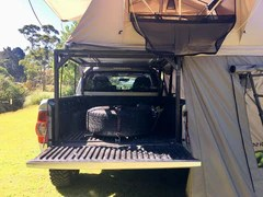 a roof top tent