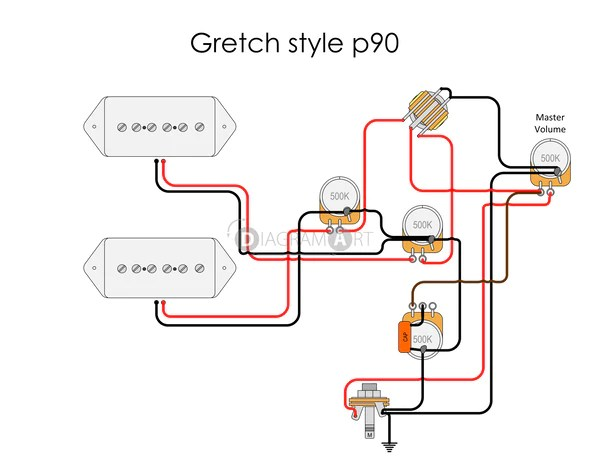 Electric Guitar Wiring: Gretch Style P90 [Electric Circuit