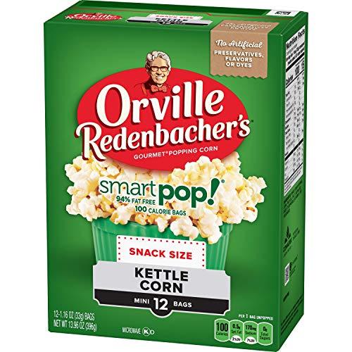 orville redenbacher s smartpop butter microwave popcorn pack of 6
