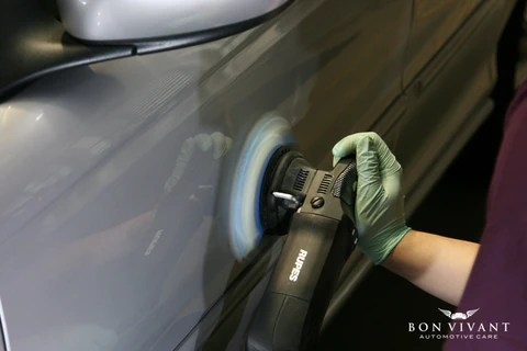 Rupes machine polishing