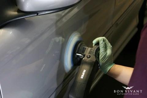 Rupes machine polishing
