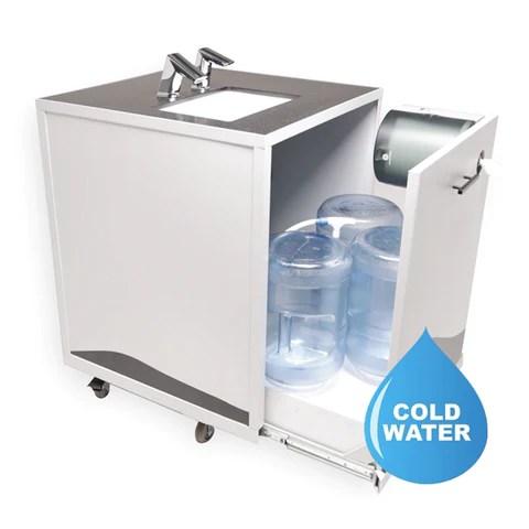 s2 design wash cube portable sink non heated touch free sensor faucet soap dispenser 110v ac plug in tc2000