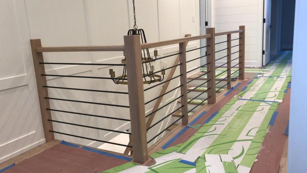 Midwest Stair Parts 5000 5001 Series Horizontal Round Bar Iron | 2 Inch Round Wood Handrail | End Cap | Handrail Brackets | Stairs | Inch Diameter | Stair Railings
